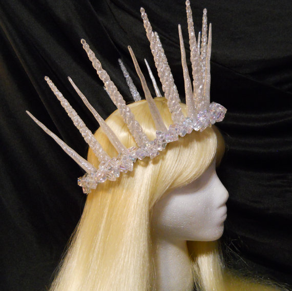 Silver, snow, ice, icicle, crown, queen, frozen, new years eve, elsa, princess, game of thrones, winter, fairy, tiara, goddess, costume