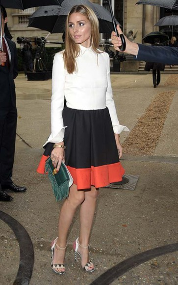 olivia palermo dress shoes bag skirt