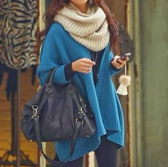 bag scarf sweater