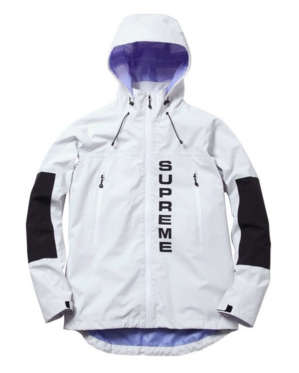 jacket supreme hood panel monochrome type