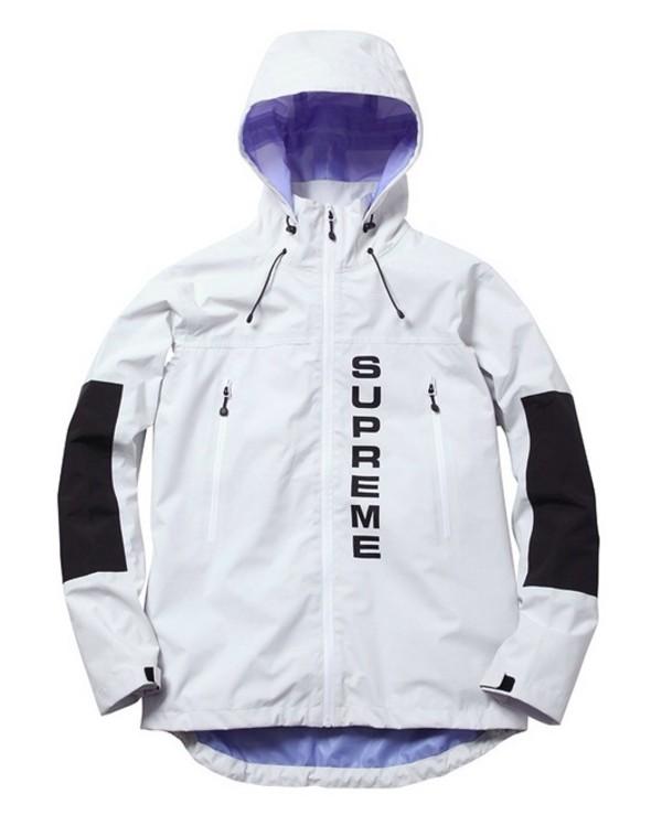 jacket supreme hood panel monochrome type