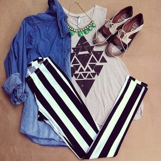 shoes hat triangle shirt gray black