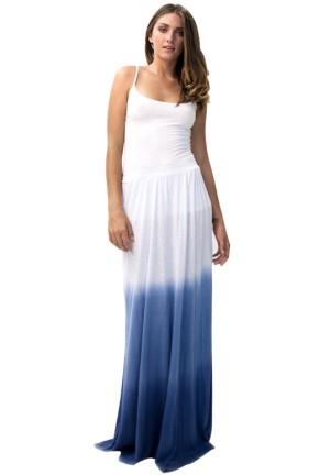 Lamade ombre maxi skirt