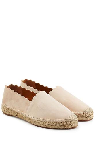espadrilles suede beige shoes