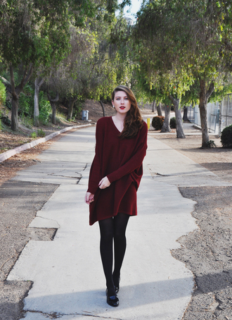 blogger dress these days burgundy