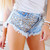 Luna Stoner Studded Babe Shorts | RUNWAYDREAMZ