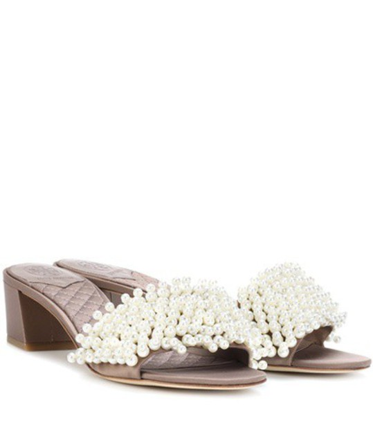 Tory Burch embellished sandals brown shoes