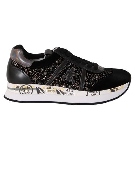 Premiata embellished sneakers black shoes