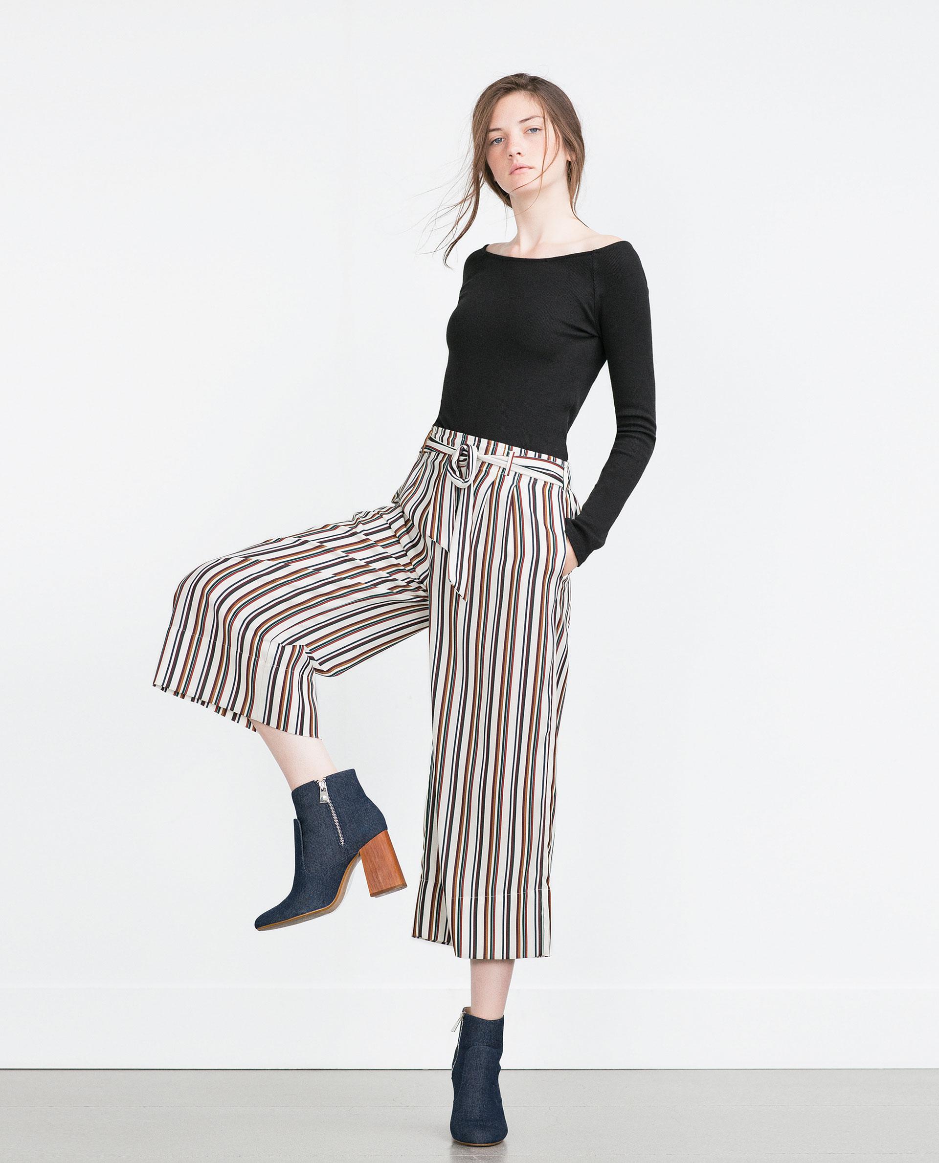 Modalite Zara CHECKERED CIGARETTE PANTS