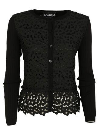 cardigan lace black sweater