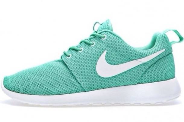 dac3aa90bfe5 nike mint nike sneakers shoes nike roshe run mint green shoes sneakers  sneakerhead tiffany creative women