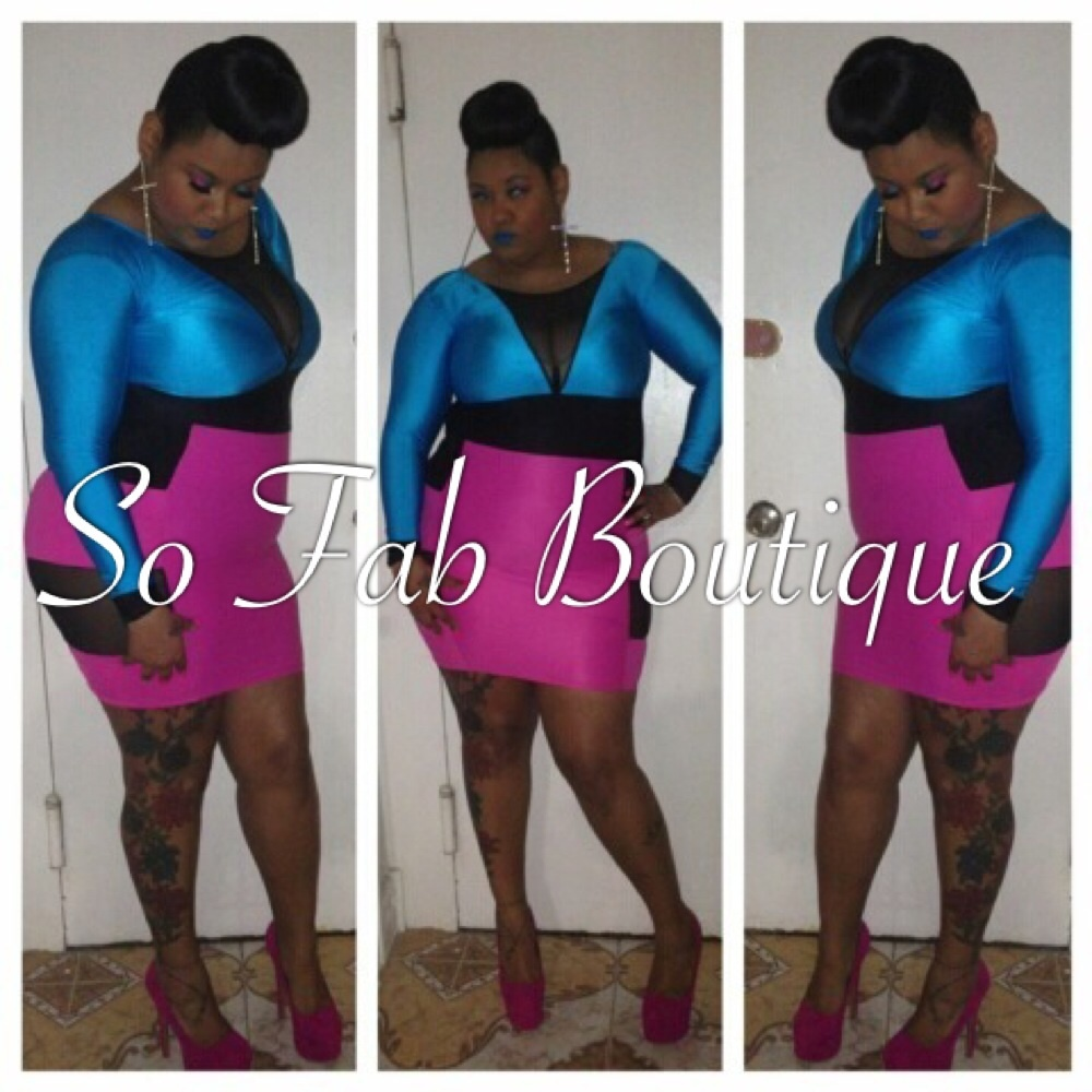 Plus Size) Color Block Dress | So Fab Boutique
