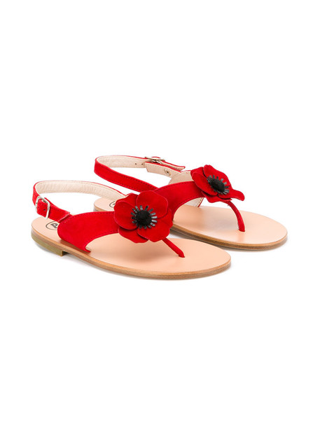 PePe sandals leather suede red shoes