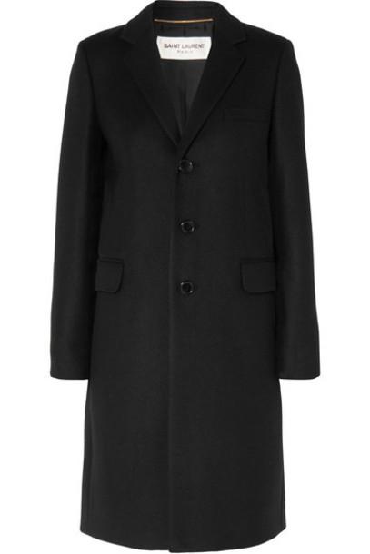Saint Laurent coat black wool
