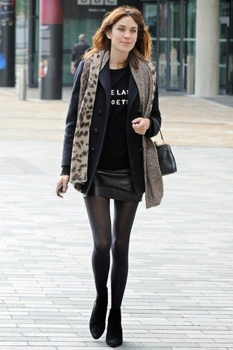 sweater black alexa chung scarf socks shoes