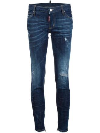 jeans zip blue
