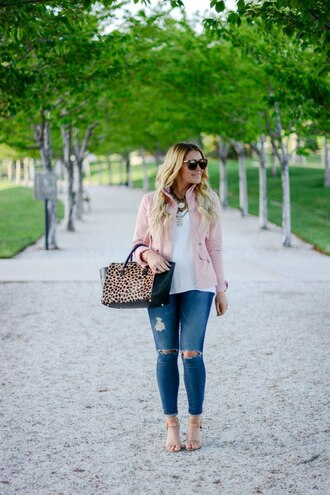 all dolled up blogger jacket top jewels sunglasses bag shoes