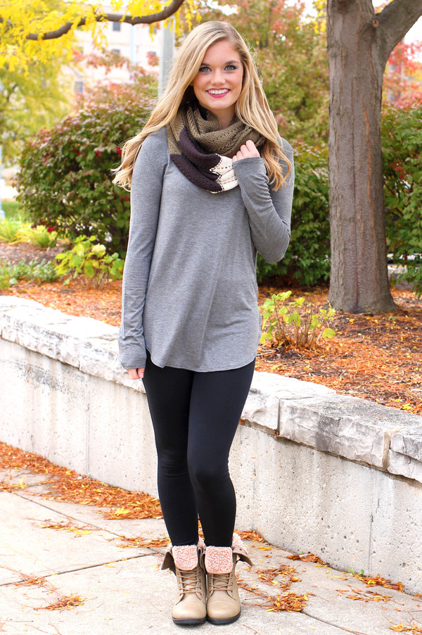 top grey tunic
