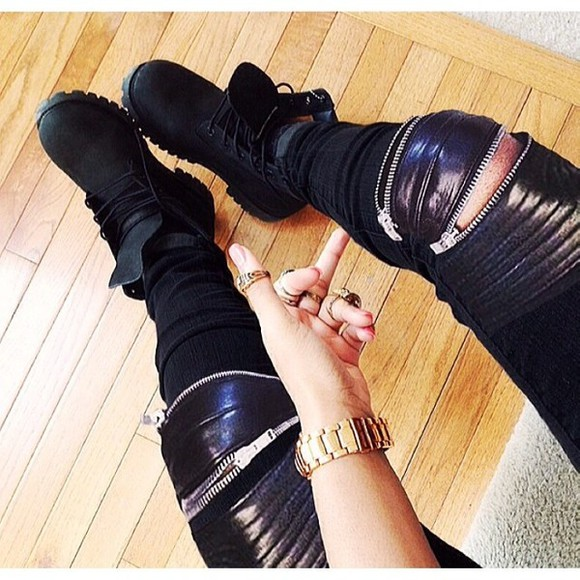 shoes zipper pants