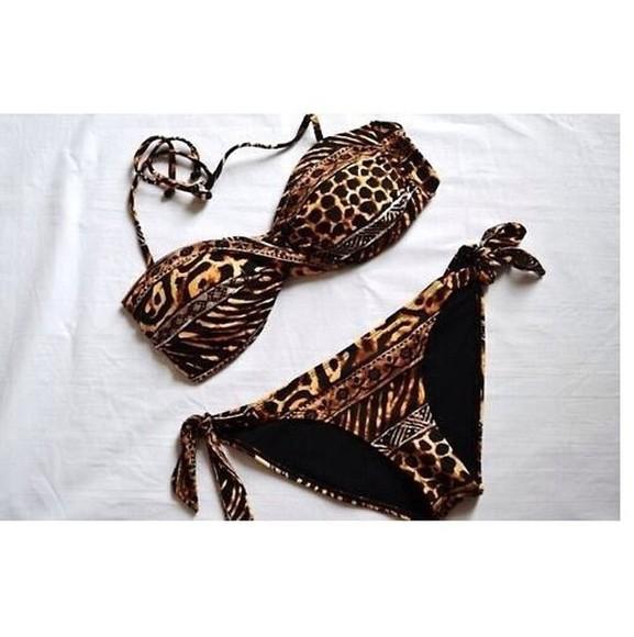 swimwear bikini leopard print