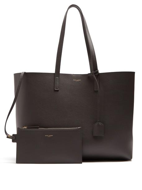 Saint Laurent leather dark grey bag