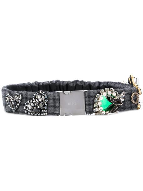 embellished belt grey