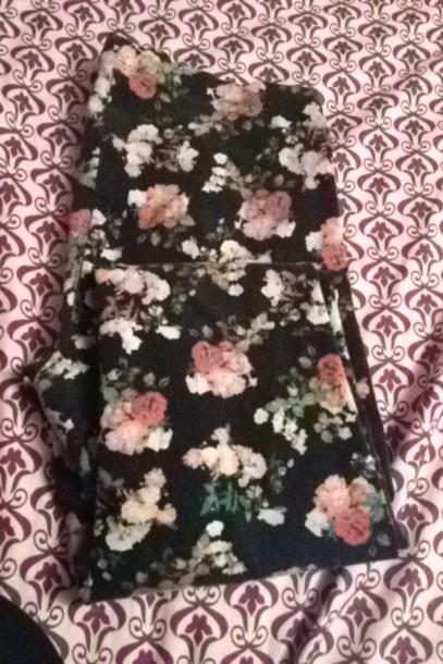 leggings decree clothes floral floral leggings