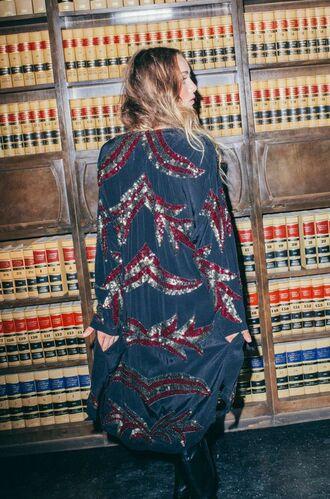 jacket kimono boho chic indie hipster boho