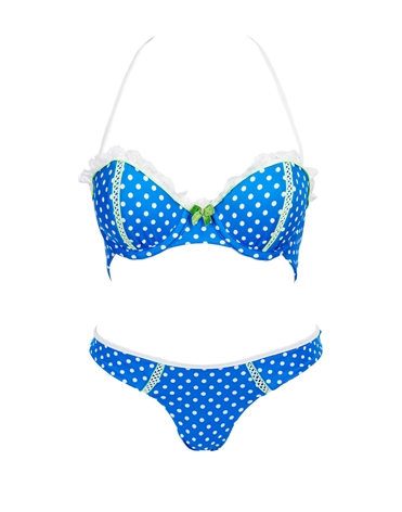 Beach Bunny Swimwear - POLKA DOT PUSH UP TOP & SKIMPY BIKINI BOTTOM -