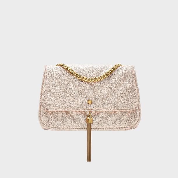 tassel bag shoulder bag gold