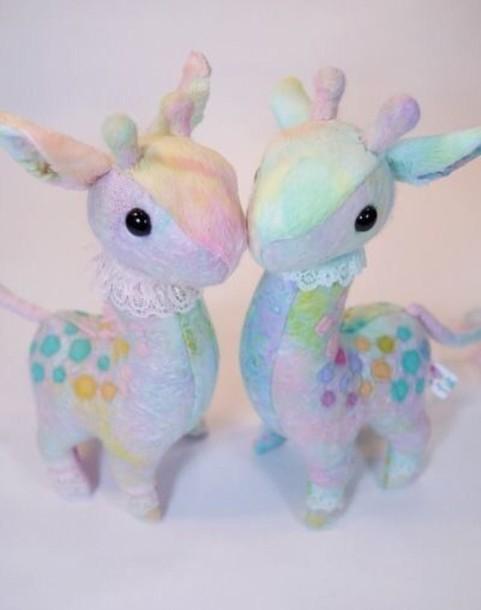 jewels kawaii style pastel stuffed animal