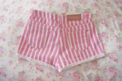 shorts,stripes,short,pink,white,flowers,striped shorts