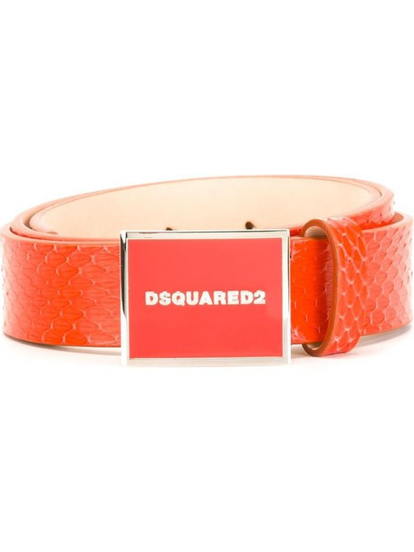 Dsquared2 logo belt belt red