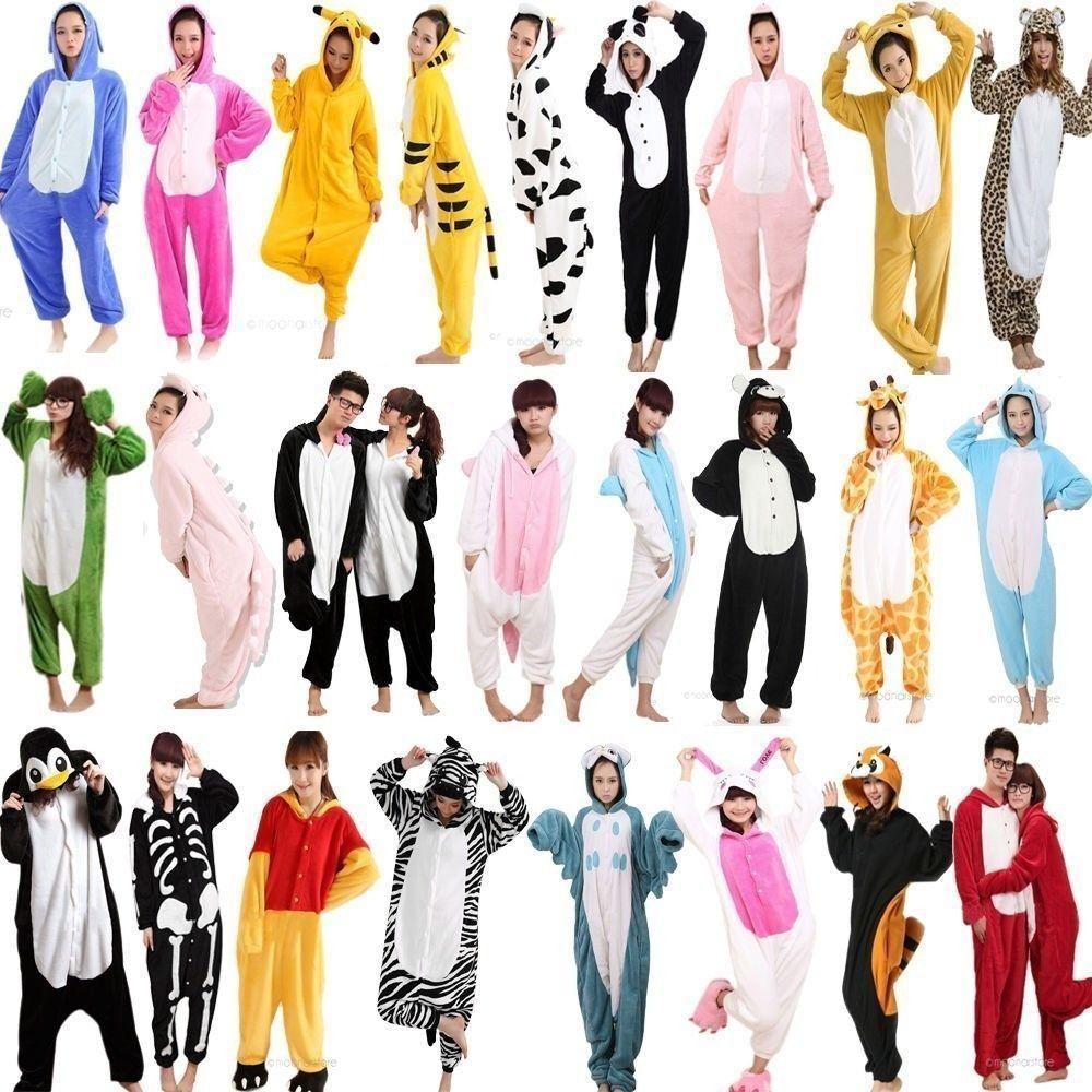 1da8e21ad702 Hot Unisex Adult Pajamas Kigurumi Cosplay Costume Animal Onesie ...