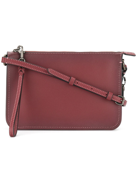 coach cross women bag leather red