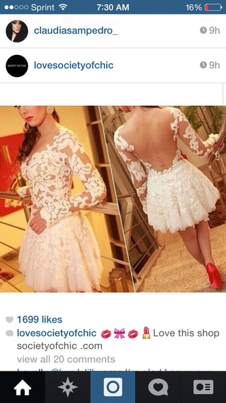 dress lace dress lace cream dress fashion