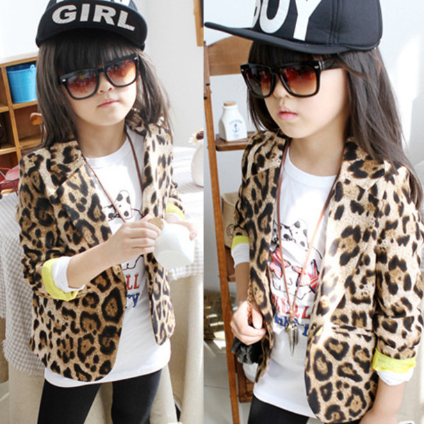 jacket kids fashion blazer leopard print boy hat