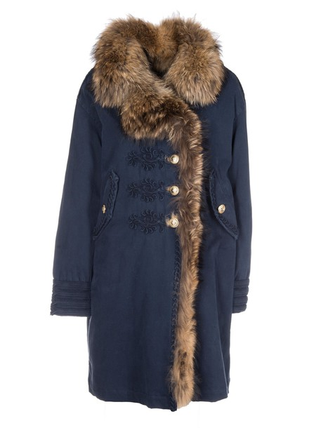 coat fur blue