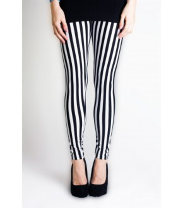pants stripped leggings jeans