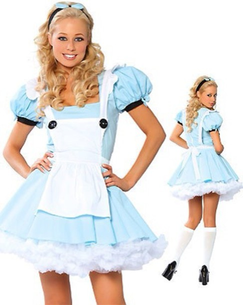 dress blue dress white dress alice in wonderland costume