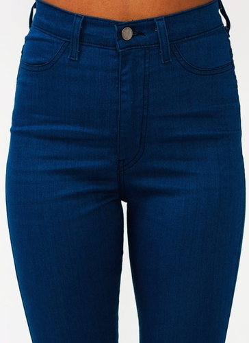 High-Waisted Skinny Jeans $39.10 in BLACK BLUE INDIGO - Jeans ...
