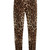 Leopard-print straight-leg stretch-cotton trousers