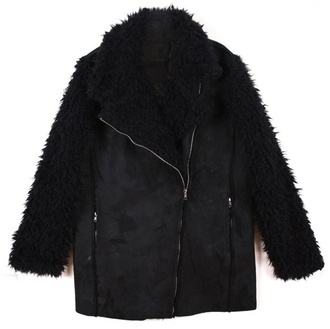 faux fur fur winter jacket fur sleeves suede jacket leather jacket