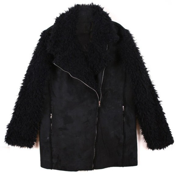 fur faux fur leather jacket fur sleeves suede jacket winter jacket