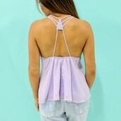 top,lilac top,sleeveless top