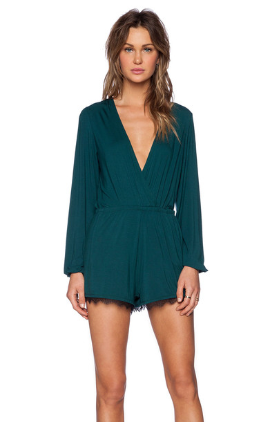 Lovers + Friends Monday To Friday Romper in teal