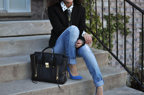 necklace satchel shoes bag black polka dot collar long necklace high heels stilettos jeans cuff jean cuff denim black leather leather bag handbag gold zipper giant bag big bag polka dots jewels