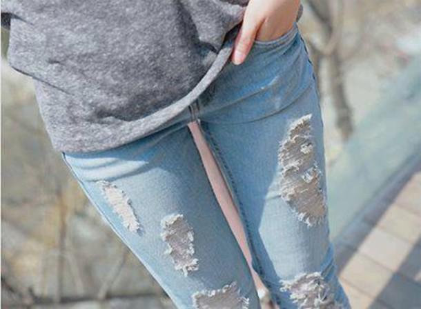 jeans blue jeans clothes long