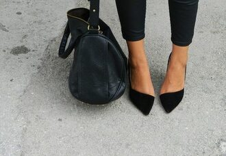 shoes bag legs streetstyle all black everything skin alexander wang