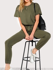 jumpsuit,girly,green,one-piece